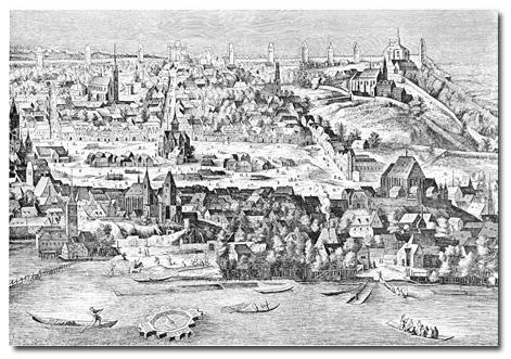 Pohled na část Nového Města Pražského z prospektu Jiljího Sadelera 1606